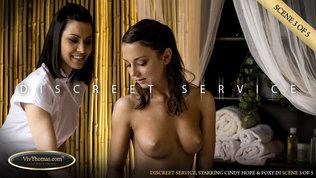 Viv Thomas Discreet Service Scene 3 Cindy Hope & Foxy Di