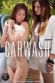 Viv Thomas Carwash Paula Shy & Suzie Carina