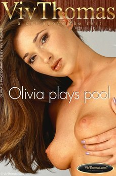 Olivia gets frisky playing pool
