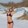 Jo in the snow